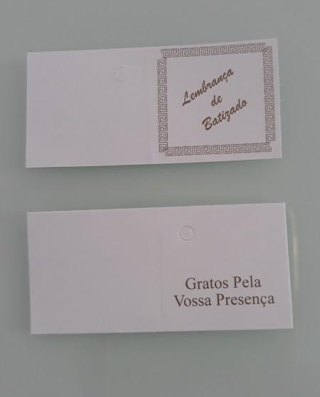 "ETIQUETAS ""LEMBRANCA DE BATIZADO"" 5X2.5 CM"